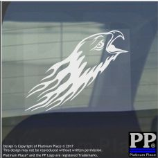 Eagle Flame-Vinyl Sticker-Car Window Graphic Decal Sign Animal,Bird,Prey,Golden